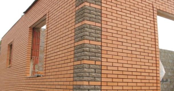 стіни будинку з лицьової цегли фото