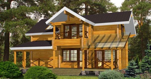 дерев'яний будинок з колод фото