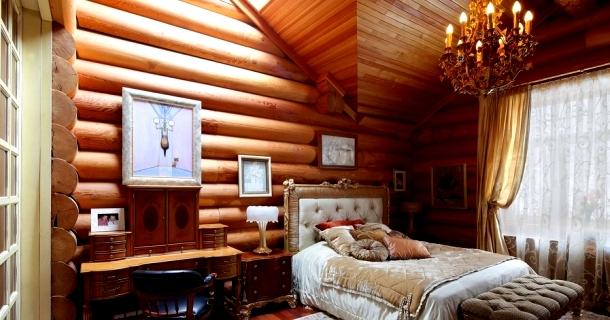 інтер'єр фінсього дерев'яного будинку фото