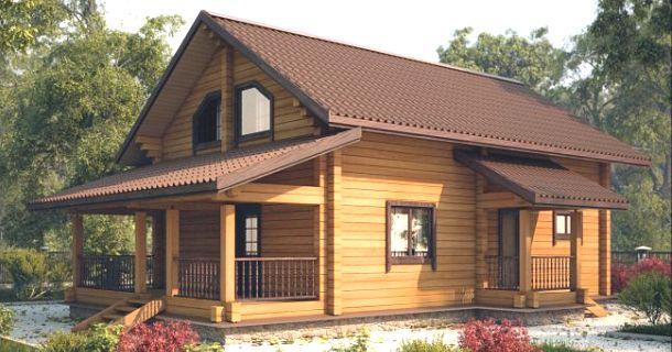 фото дерев'яного фінського будинку