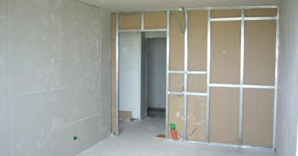 конструкція перегородки з гіпсокартону в квартирі