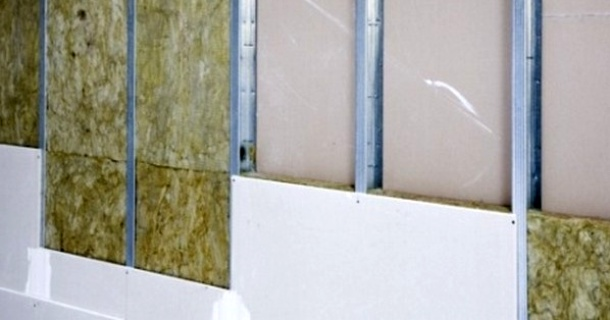 утеплення гіпсокартонної стіни мінеральною ватою