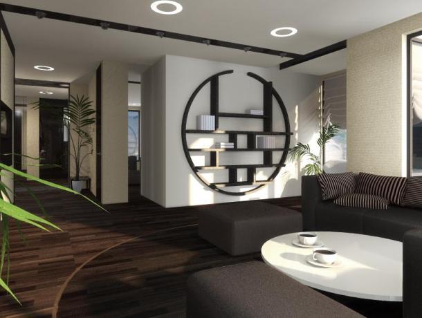 ремонт вітальні в японському стилі