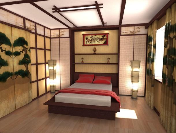 японська спальня дизайн фото