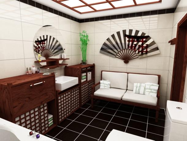 дизайн ванни в японському стилі