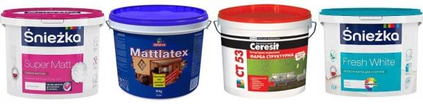водоемульсійні фарби для стелі