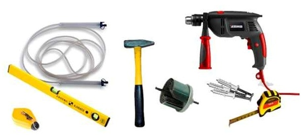 інструменти для монтажу рейкової стелі
