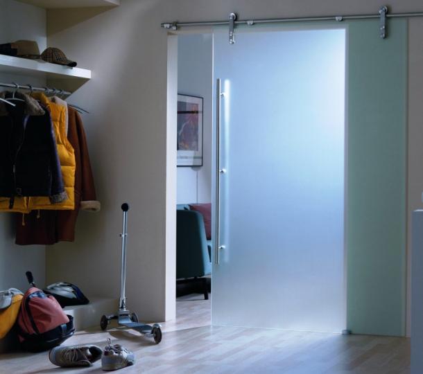 міжкімнатні скляні двері розсувні