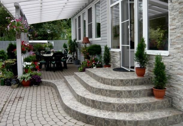 бетонний ганок для будинку