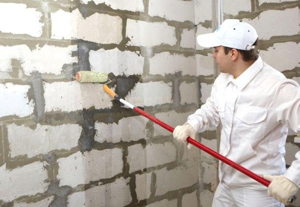 підготовка стін до наклеювання пінопласту