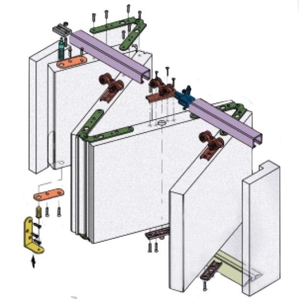двері гармошка зборка конструкції своїми руками