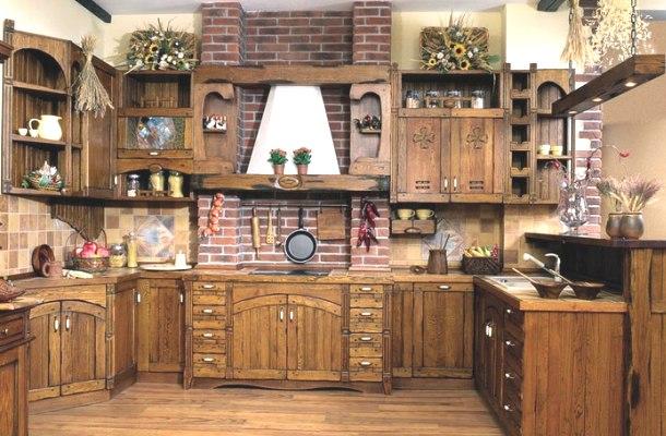 інтер'єр сільської кухні