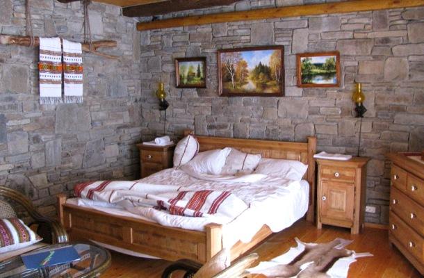 офорлмення дизайну спальні в сільському стилі