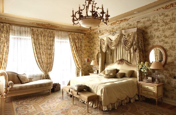дизайн спальні в англійському стилі