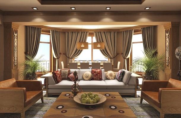 інтер'єр квартири в африканському стилі