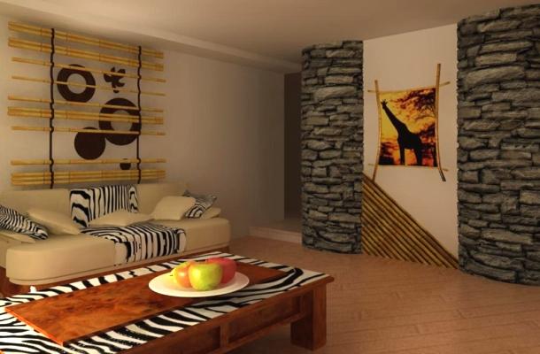 обробка житла в африканському дизайні