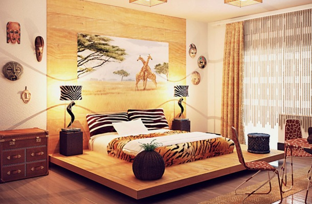 африканський дизайн ремонту квартири