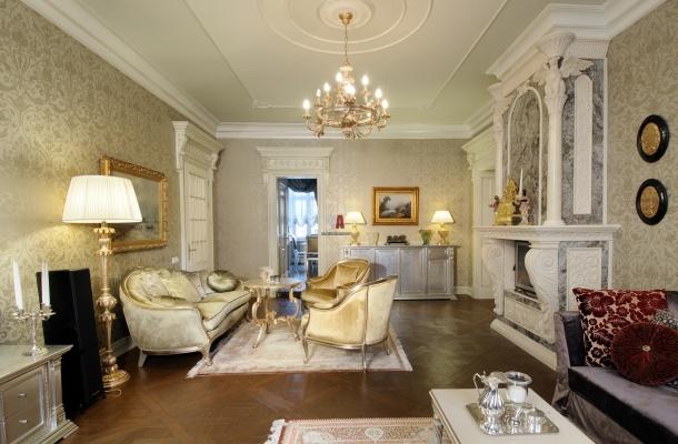 класичний дизайн оздоблення кімнати