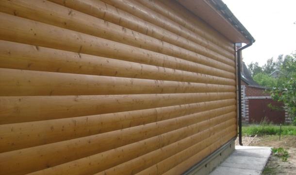 стіна з блок хаусу фото