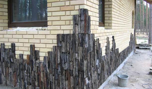 обробка кутів фасаду каменем