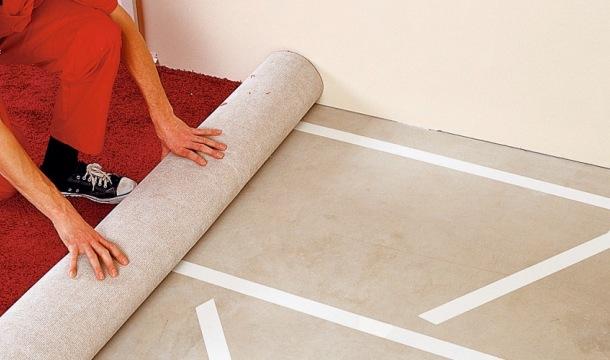 кріплення ковроліну на скотч до підлоги