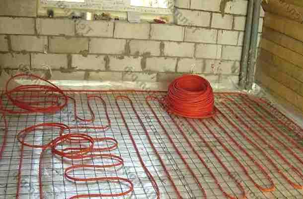 підігрів підлоги електричним кабелем