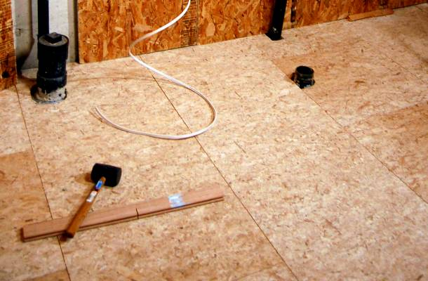 підготовка покриття підлоги з ДСП під ламінат
