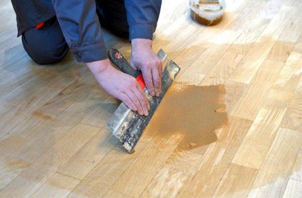 попередня підготовка дерев'яної підлоги до циклювання