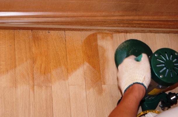 циклювання підлоги шліфмашиною