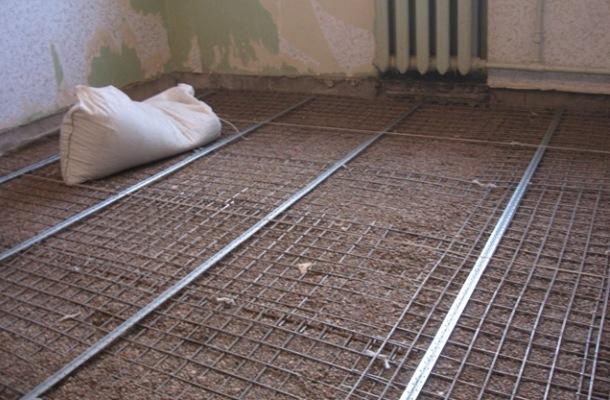 укріплення бетонної стяжки арматурою