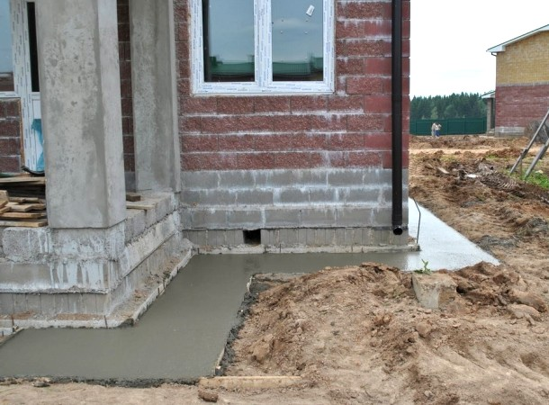 бетонна відмостка для захисту фундаменту від вологи