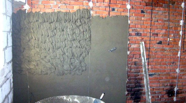 процес штукатурення стін ручним методом