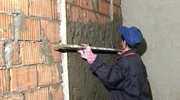 вирівнювання стін штукатуркою по маяках