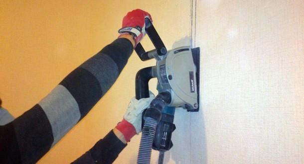 штроблення стін за допомогою штроборіза