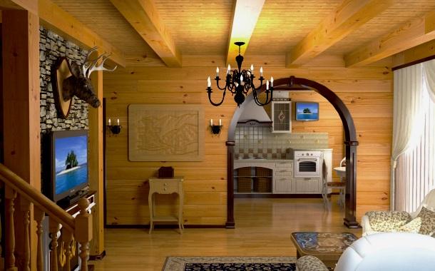 оздоблення стелі і стін власного будинку деревиною своїми руками