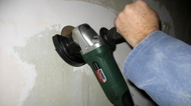 очистка стін від фарби болгаркою 125 мм