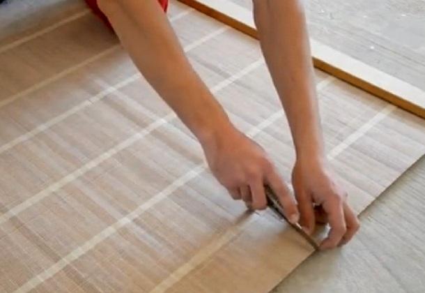різання бамбукових шпалер