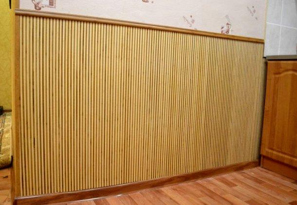 бамбукові шпалери на стіні фото