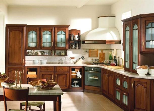 класичний італійський інтер'єр кухні