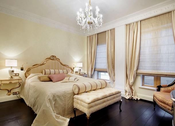 класичний італійський інтер'єр спальні