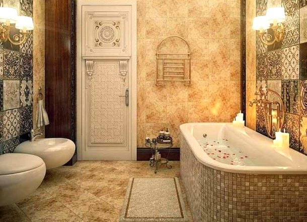 класичний інтер'єр італійської ванни