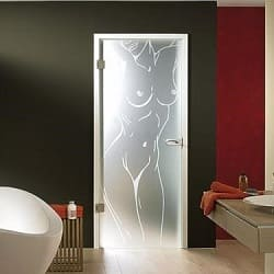 скляні матові двері для ванни
